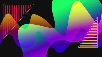 fond liquide coloré de mouvement video