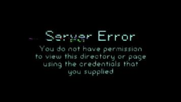 Server Error Message With Bad Glitch Effect