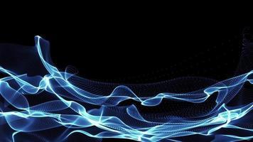 particelle di luce blu ondulate video