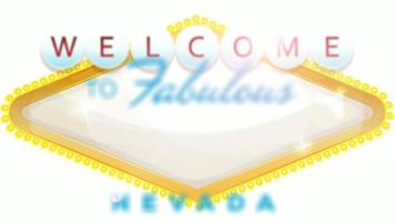 Welcome To Las Vegas Sign Animation video