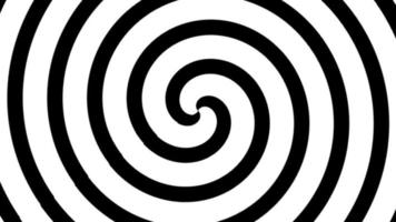 Spiral transition with white and black line. video