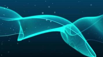 golven die zweven en wervelen met kleine deeltjes