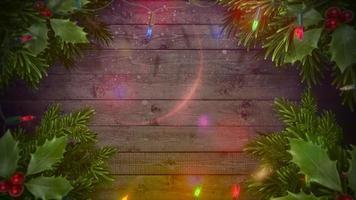 guirnalda y árbol de navidad verde video