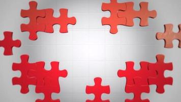 pièces de puzzle rouges