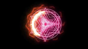 Dodecagon Fire Around Magic Pink Power
