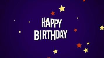 close-up gelukkige verjaardagstekst en sterren video