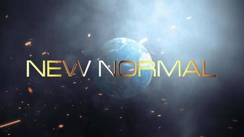 neue normale filmische Titel Trailer Erdwolken Animation video
