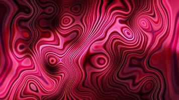 vidro líquido com brilho vermelho brilhante e loop de onda video