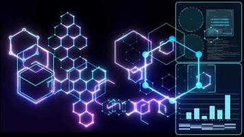 Futuristic digital data powerful energy  video