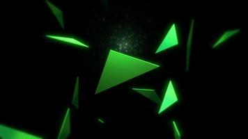 movimiento de triángulos verdes
