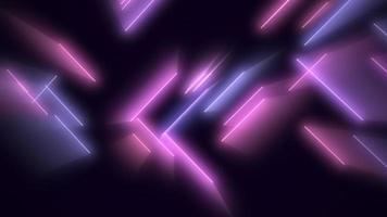 lignes néon violettes