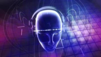 fundo abstrato de fones de ouvido