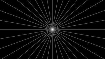 Starburst mínimo abstracto con lazo de líneas punteadas