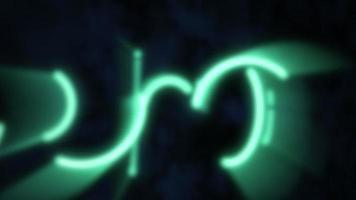 círculos de neón verde video