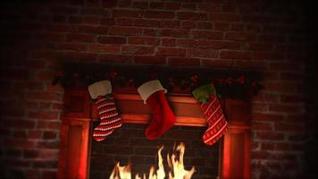 Fireplace and Christmas Stockings Dynamic Animation