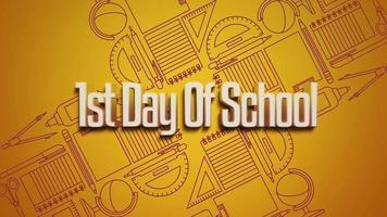 enviar texto 1º dia de aula e elementos da escola