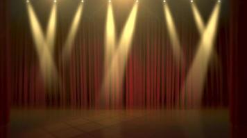 riflettori sul palco