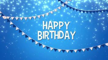 Grattis på födelsedagen text med semester krans video