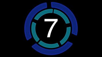 Futuristic digital countdown