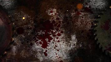 serra elétrica e sangue escuro