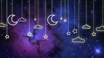 Lighted Hanging Clouds Moons And Stars