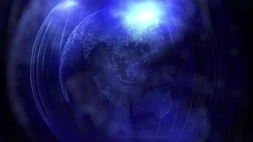 projeção azul do planeta terra