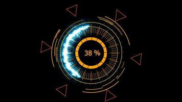 medidor digital de energia azul e triângulos rosa video