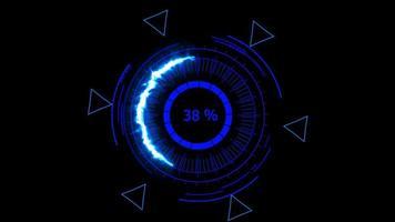 medidor digital de energía azul