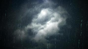 dunkler bewölkter Himmel und Regen video