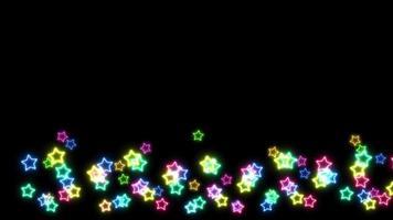 arco-íris estrelas grandes e pequenas