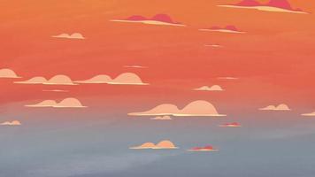 Sonnenuntergang mit Wolken.