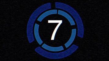 Glitch digital countdown