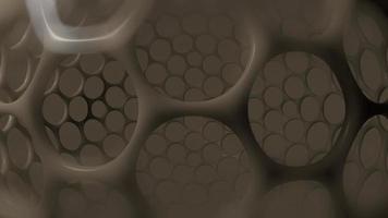 futurista nano estrutura 3d de fundo video
