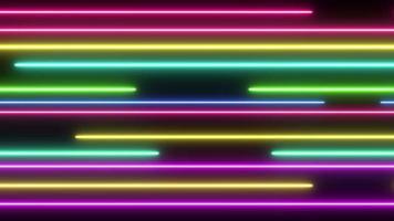 Fondo de líneas de neón abstracto video