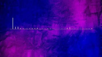 animação branca do espectro de áudio em fundo roxo