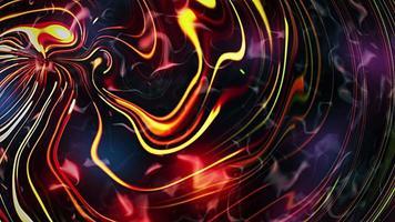 astratto animazione arcobaleno colore ondulato flusso di energia regolare video