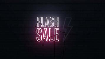 Flash Sale Neon Sign Background  video