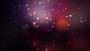 looping vermelho moderno e brilhante bokeh e estrelas brilhantes
