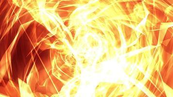 strisce di luce di fiamma a spirale e ciclo di onde di energia