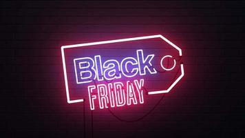 fondo de letrero de neón de venta de viernes negro video