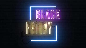 Futuristic Black Friday Sale Neon Sign video