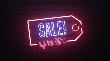 Sale Neon Sign Background
