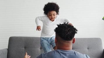 African Father Playing With His Son