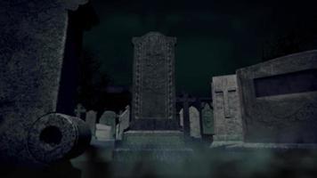 animierter Friedhofshintergrund video