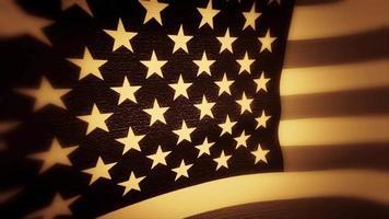 un drapeau américain teinté sépia video
