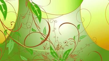 fundo de animação de planta video