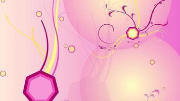 geometría floral rosa abstracta