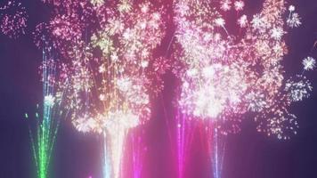 pluie de feux d'artifice