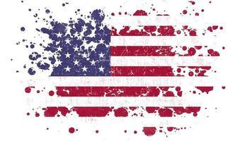 bandeira dos feriados americanos de 4 de julho revelada com máscara de respingos de pincel video