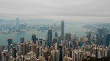 time-lapse de hong kong le matin video